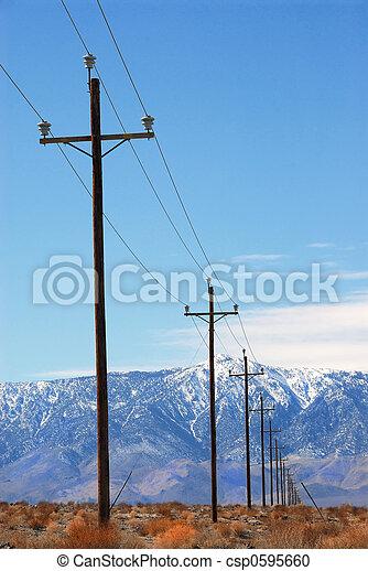Power Poles Death Valley - csp0595660
