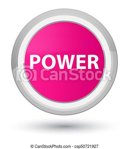 Power prime pink round button - csp50721927