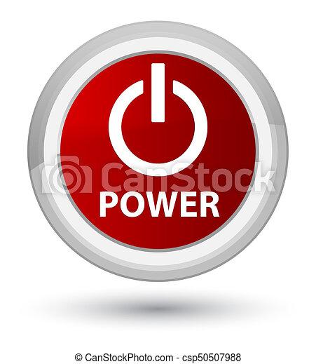 Power prime red round button - csp50507988