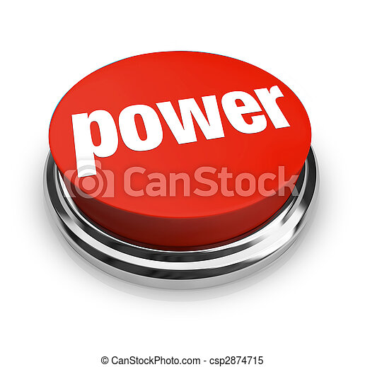 Power - Red Button - csp2874715
