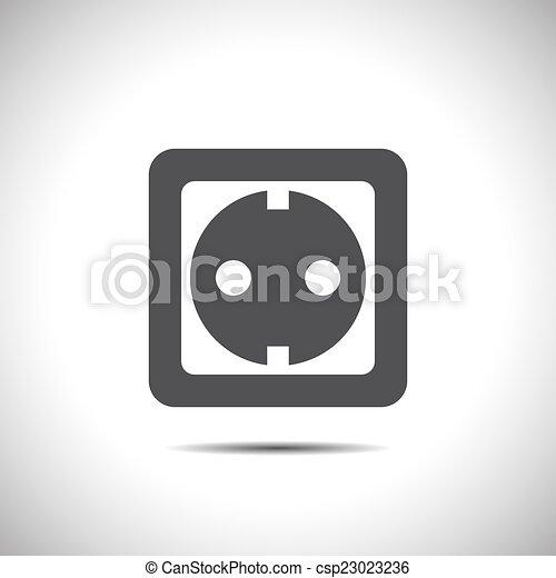 power socket vector icon - csp23023236