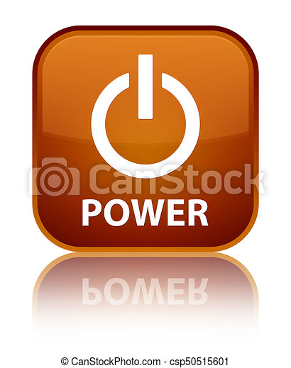 Power special brown square button - csp50515601