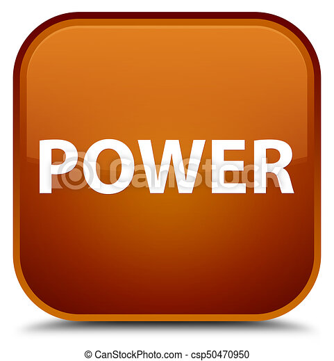 Power special brown square button - csp50470950