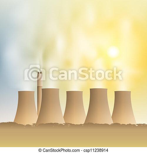 Power Station - csp11238914
