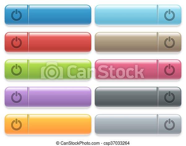 Power switch menu button set - csp37033264