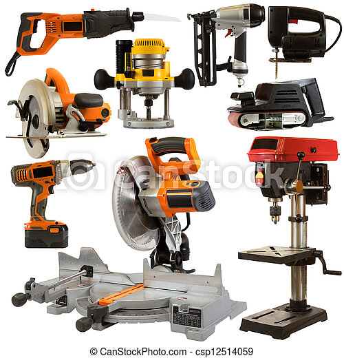 Power Tools Isolated on a White Background - csp12514059
