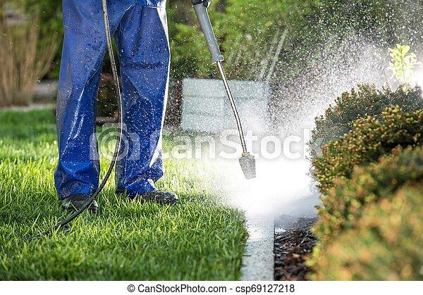 Power Washing Garden Elements - csp69127218