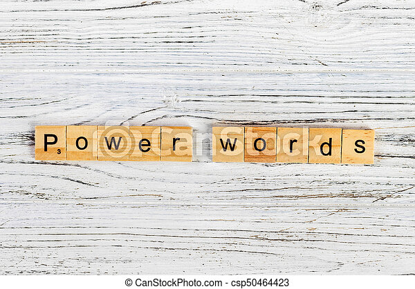 power words word made with wooden blocks concept - csp50464423