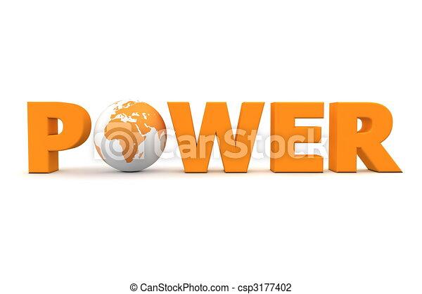 Power World Orange - csp3177402