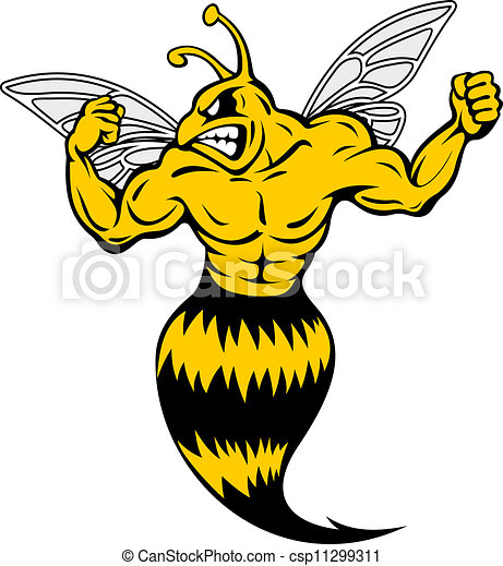 powerful and danger yellow jacket in mascot style vector clip art rh canstockphoto com fighting yellow jacket clipart yellow jacket clip art free