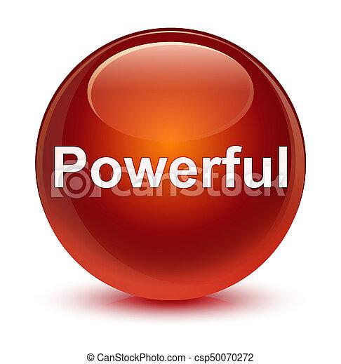 Powerful glassy brown round button - csp50070272