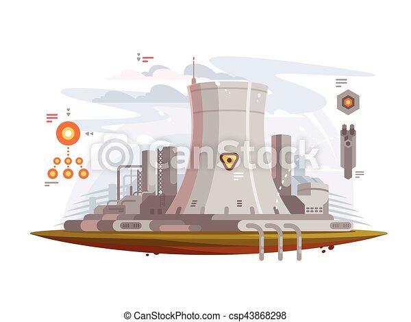 Powerful nuclear reactor - csp43868298