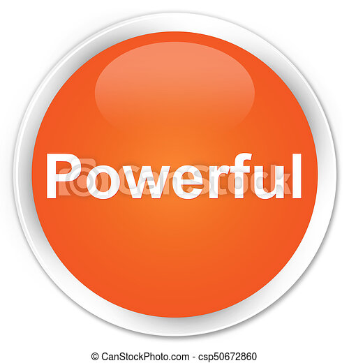 Powerful premium orange round button - csp50672860