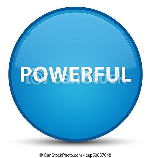 Powerful special cyan blue round button - csp50057648