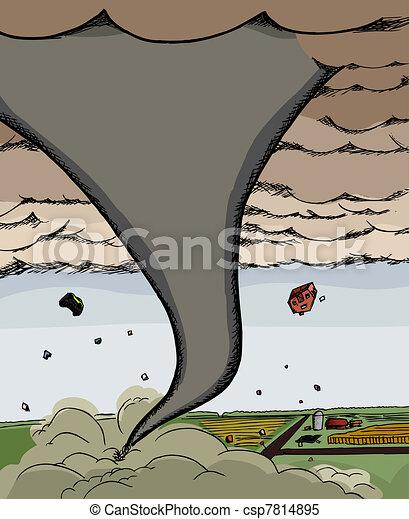 Powerful Tornado - csp7814895