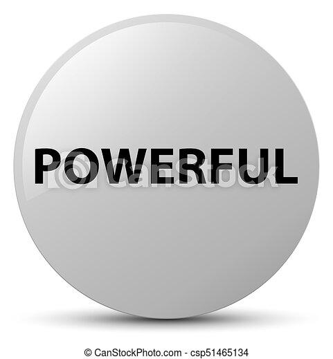 Powerful white round button - csp51465134