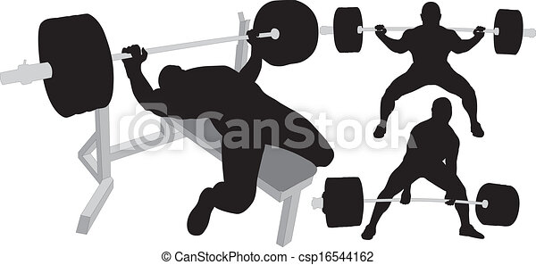 powerlifting vector silhouettes powerlifting weightlifting or rh canstockphoto com Powerlifting Shirts Powerlifting Logos