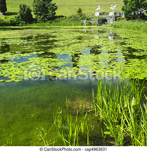 Powerscourt gardens, county wicklow, ireland stock photography ...