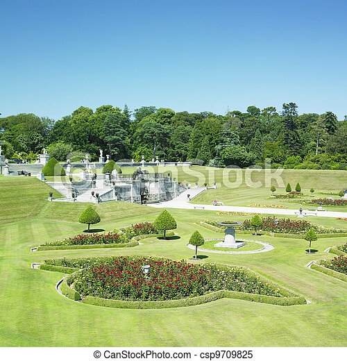 Powerscourt gardens, county wicklow, ireland stock images - Search ...