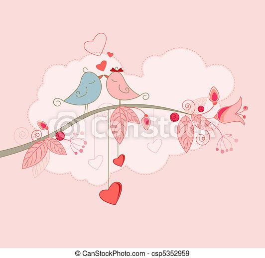 powitanie, valentine, karta, dzień - csp5352959