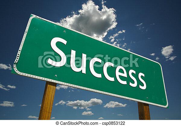 powodzenie, droga znaczą - csp0853122