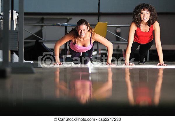 poza, grupa, pracujący kobiety - csp2247238