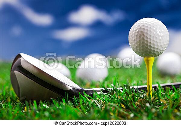 pozw, gra, golf!, okrągły - csp12022803