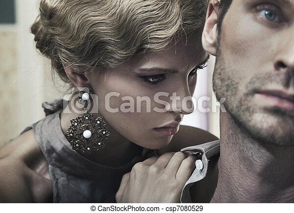prächtig, blond, mann, hübsch - csp7080529
