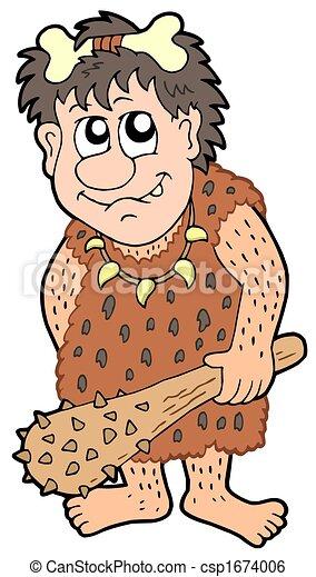 Prehistorique Dessin Anime Homme Prehistorique Illustration