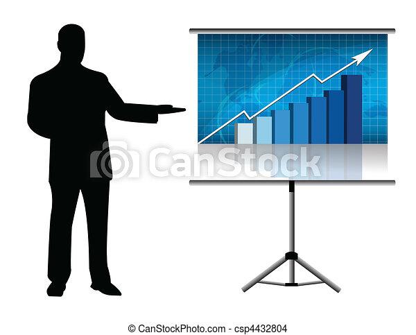 présentation, business - csp4432804