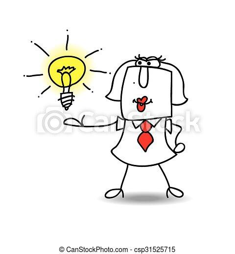 présente, karen, idée - csp31525715