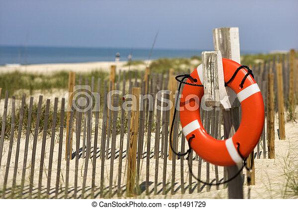 préservateur vie, plage. - csp1491729