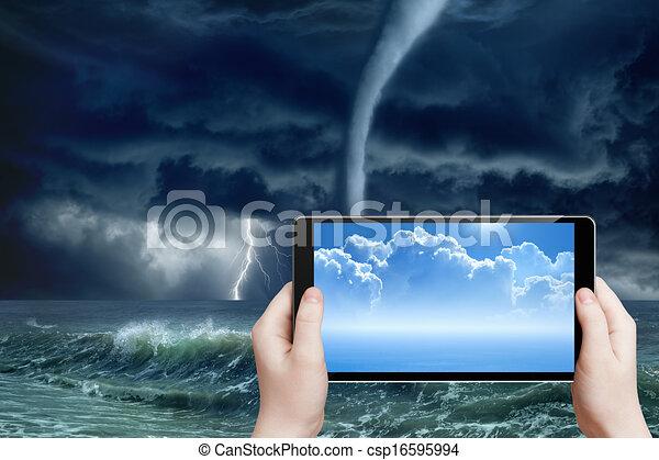 prévision, augmented, temps, réalité - csp16595994