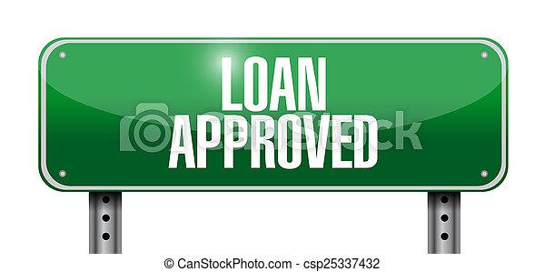 prêt, conception, approuvé, illustration, signe - csp25337432