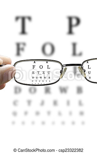 pr�fung, auge, durch, senkrecht, brille - csp23322382
