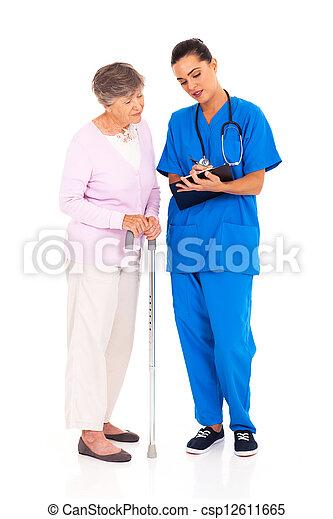 pr�fung, erklären, krankenschwester, medizin, ergebnis - csp12611665