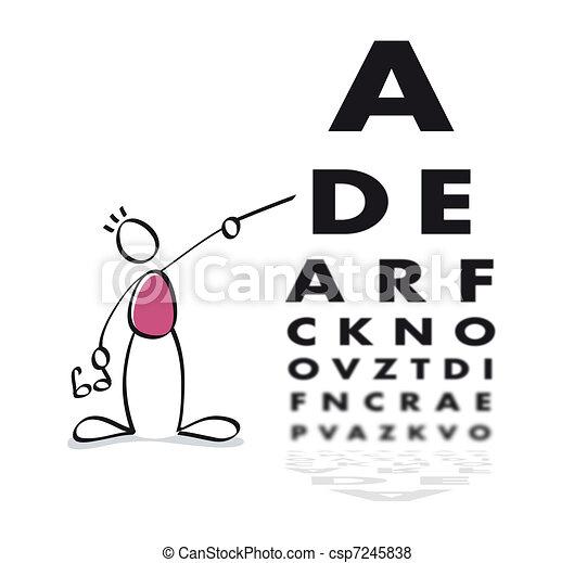pr�fung, lustiges, vision - csp7245838