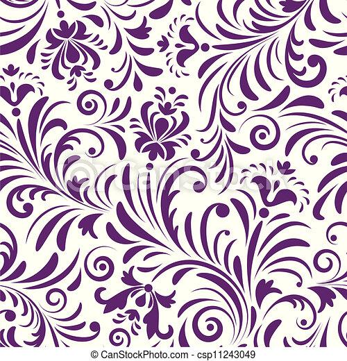 próbka, abstrakcyjny, kwiaty, seamless - csp11243049