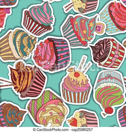 próbka, cupcake - csp25980257