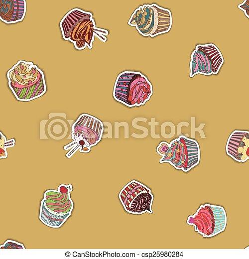 próbka, cupcake - csp25980284