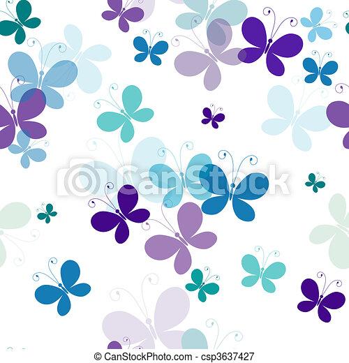 próbka, motyle, seamless - csp3637427
