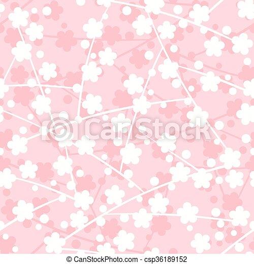 próbka, sakura, seamless - csp36189152