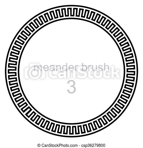próbka, starożytny, meandry - csp36279800