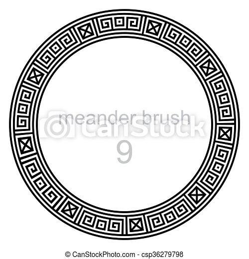 próbka, starożytny, okrągły, meandry - csp36279798