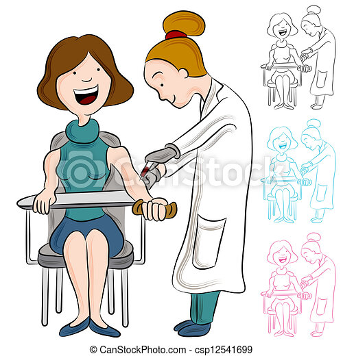 pröva, kvinna, blod - csp12541699