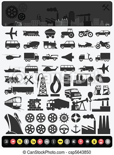 průmyslový, icons3 - csp5643850