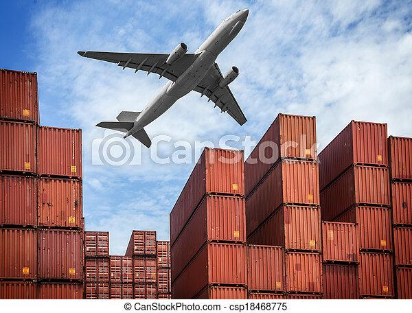 průmyslový, přístav - csp18468775