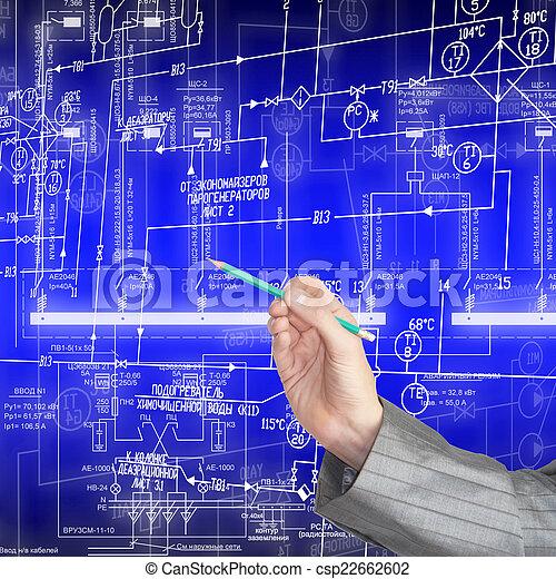 průmyslový, plán - csp22662602