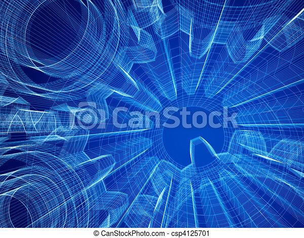 průmyslový, pojem, design - csp4125701