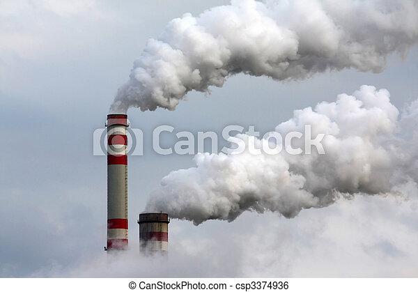 průmyslový znečišování - csp3374936